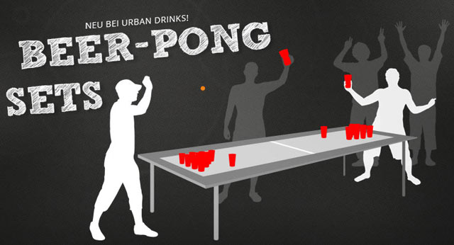 lust auf beer pong im shop gibt s ab sofort beer pong sets. Black Bedroom Furniture Sets. Home Design Ideas