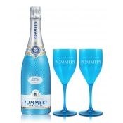 "Pommery Royal Blue Sky ""For Two Set"" 0,75L (12,5% Vol.)"
